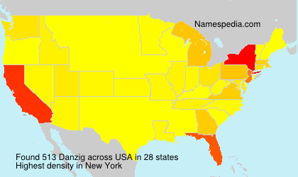 Surname Danzig in USA