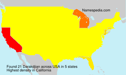 Surname Darakdjian in USA