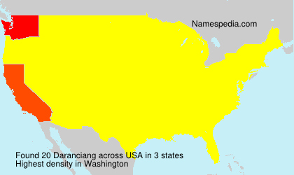Surname Daranciang in USA