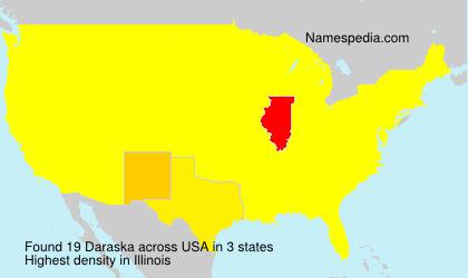 Familiennamen Daraska - USA