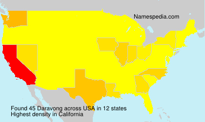 Surname Daravong in USA