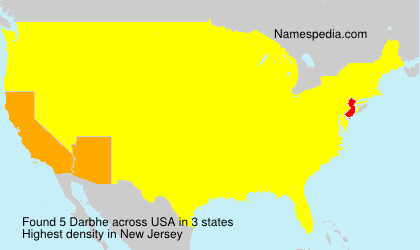 Surname Darbhe in USA