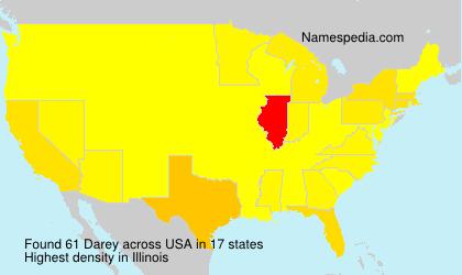 Surname Darey in USA
