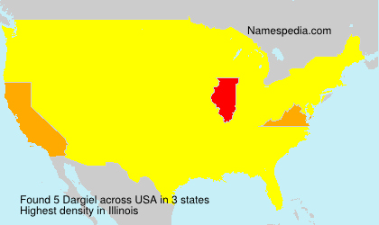 Surname Dargiel in USA