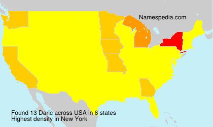 Surname Daric in USA