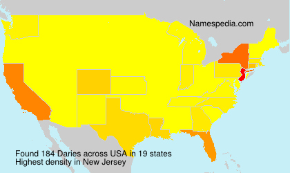 Surname Daries in USA
