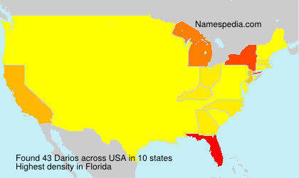 Surname Darios in USA