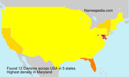 Surname Darisme in USA