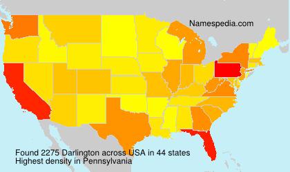 Surname Darlington in USA