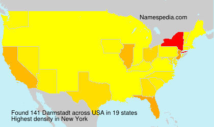 Surname Darmstadt in USA