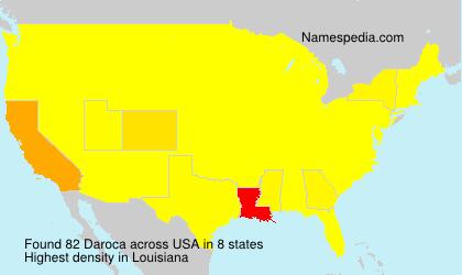 Surname Daroca in USA