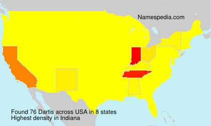 Surname Dartis in USA