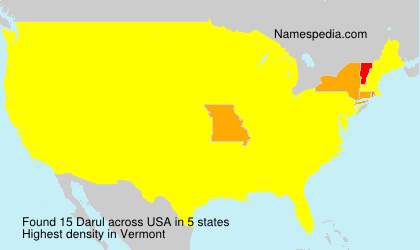 Surname Darul in USA