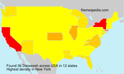 Surname Darweesh in USA