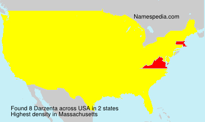 Surname Darzenta in USA