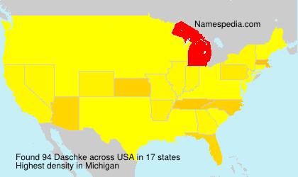 Familiennamen Daschke - USA