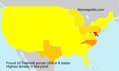 Surname Dashield in USA