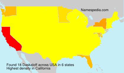 Surname Daskaloff in USA