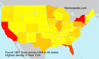 Surname Dass in USA