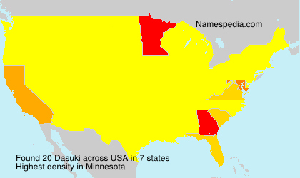 Surname Dasuki in USA