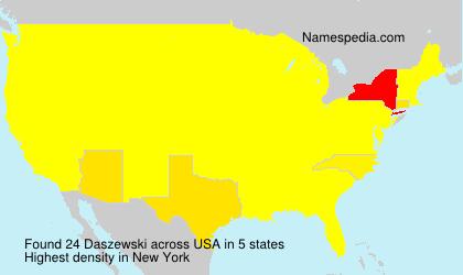 Familiennamen Daszewski - USA