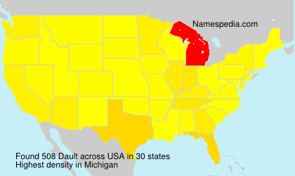 Surname Dault in USA