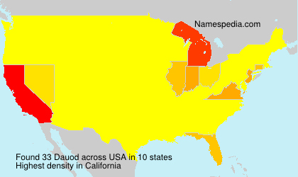 Surname Dauod in USA