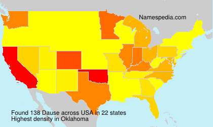 Surname Dause in USA
