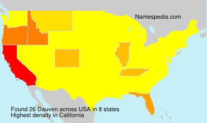 Surname Dauven in USA