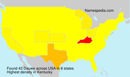 Surname Dauwe in USA