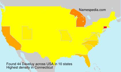 Familiennamen Daveluy - USA