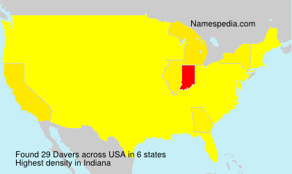 Surname Davers in USA