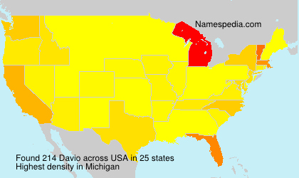 Surname Davio in USA