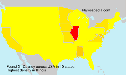 Surname Davney in USA