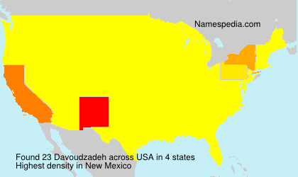 Surname Davoudzadeh in USA