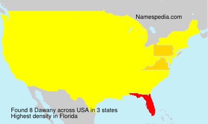 Surname Dawany in USA