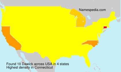 Surname Dawick in USA