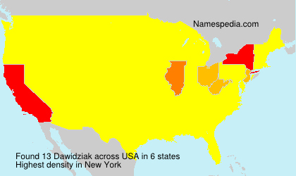 Surname Dawidziak in USA