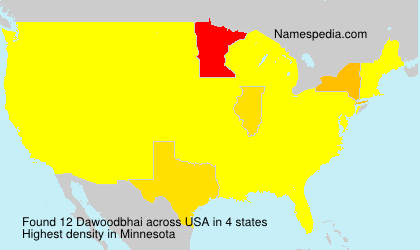 Surname Dawoodbhai in USA