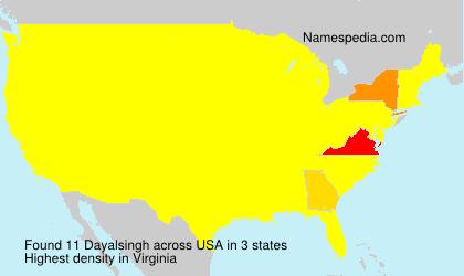 Surname Dayalsingh in USA