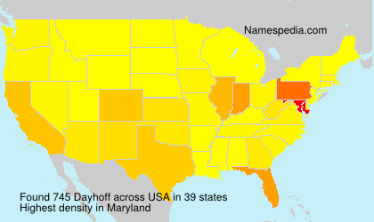 Surname Dayhoff in USA
