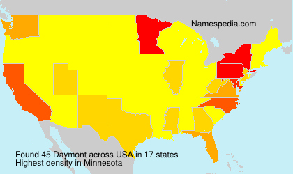 Surname Daymont in USA