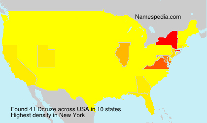 Surname Dcruze in USA