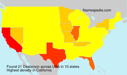 Surname Dealarcon in USA