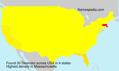 Surname Deamato in USA