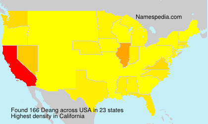 Surname Deang in USA