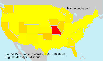 Surname Deardeuff in USA