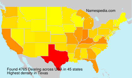 Surname Dearing in USA