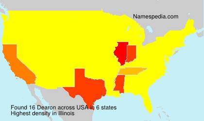 Surname Dearon in USA