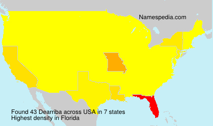 Surname Dearriba in USA